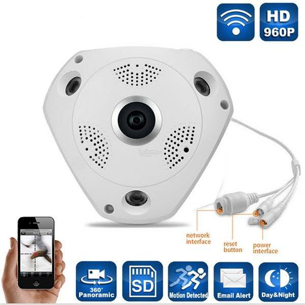 Camaras vigilancia ip 360 panoramica 3d nueva
