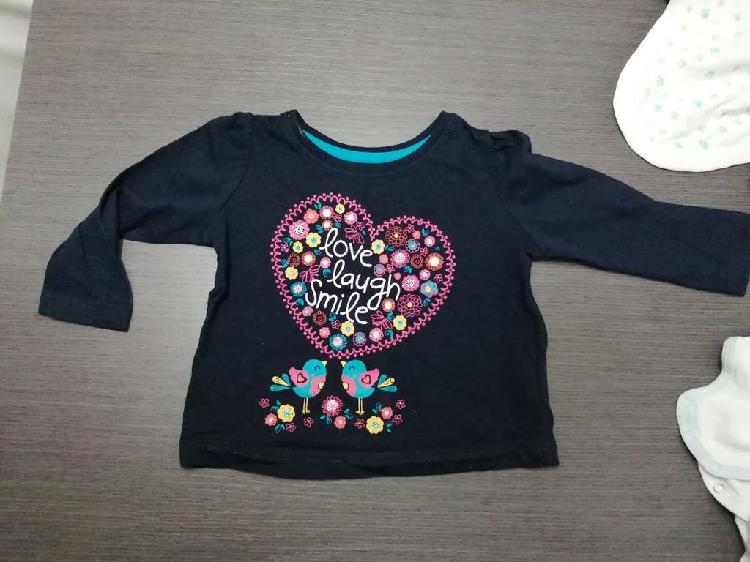 Camiseta manga larga bebé 9 a 12m.