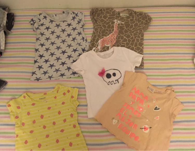 Camisetas manga corta niña 12-18 meses
