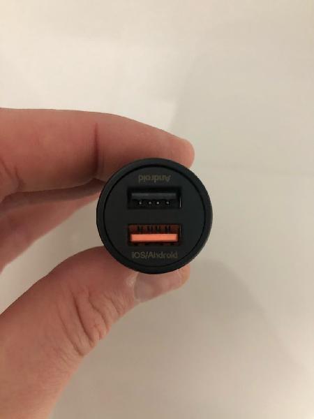 Cargador usb coche fast charge (carga rápida)