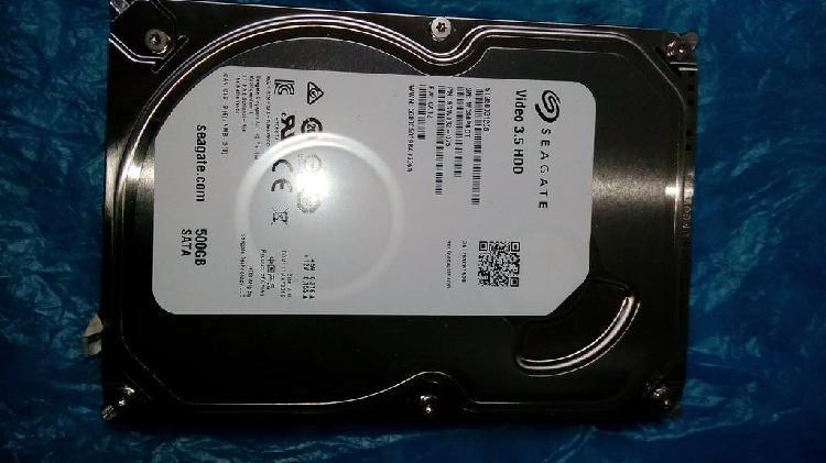 Disco duro 500 gb sata 3,5, como nuevo, perfecto.