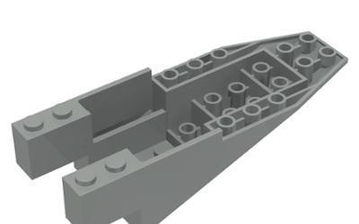 Lego 6058 cabina 11 x 4 x 2 2/3 pendiente invertida gris