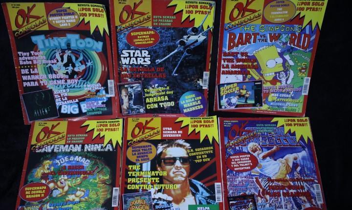 Lote ok consolas 6 revistas vidojuegos años 90
