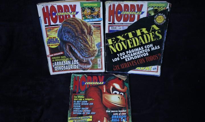 Lote tres numeros hobby consolas