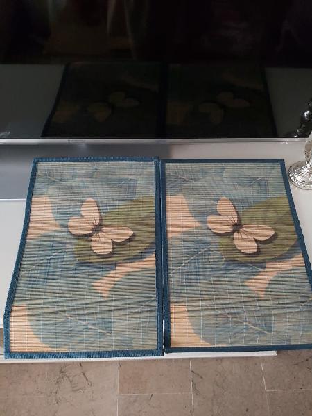 Mantel individual mariposas zara home