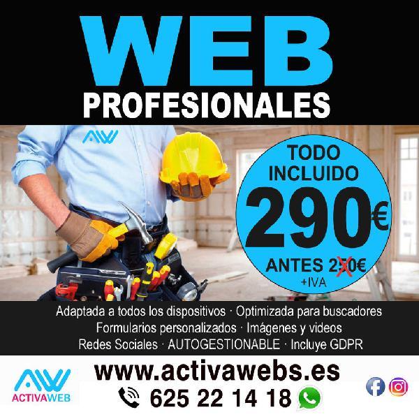 Páginas web para profesionales