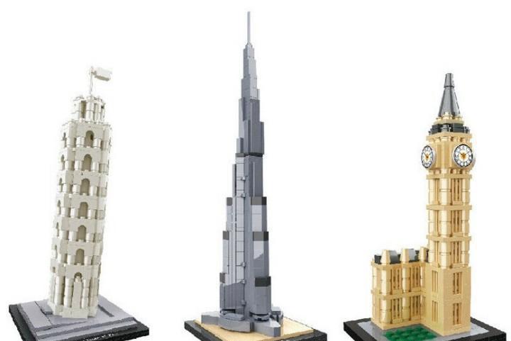 Puzzles en 3d -torre de pisa - torre big ben -torre burj