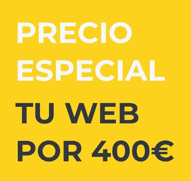 Paginas web 400€ precio cerrado