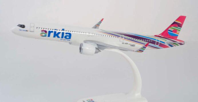Precioso avión airbus a321neo arkia herpa 1:200