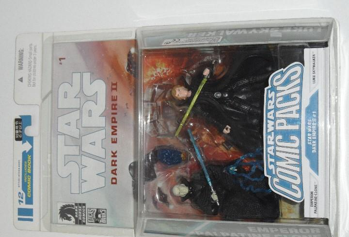 Star wars comic packs # 1 dark empire ii 2 figuras en