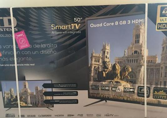 "Smart tv 50"" 4k ultra hd (nuevo a estrenar)"