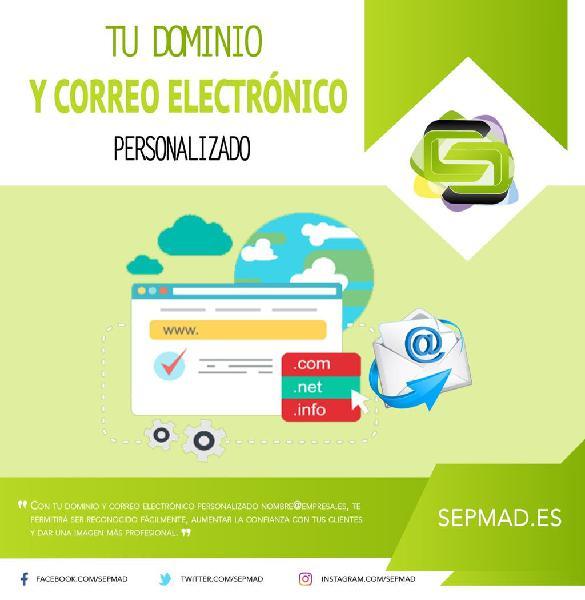 Tú dominio y correo electrónico personalizado