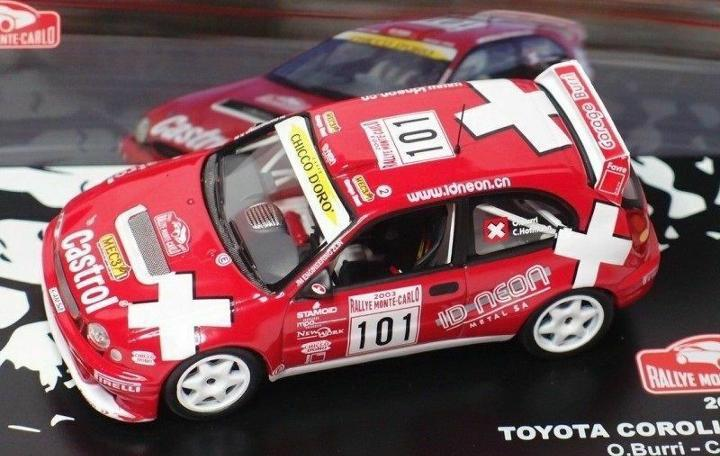 Toyota corolla burri rally montecarlo 2003 1:43 ixo altaya