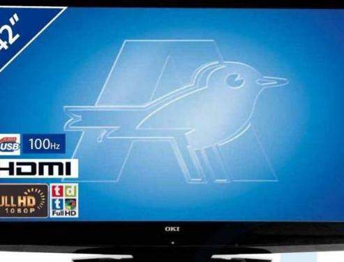 Tv lcd 42' oki v42c-fhstu full hd tdt nueva
