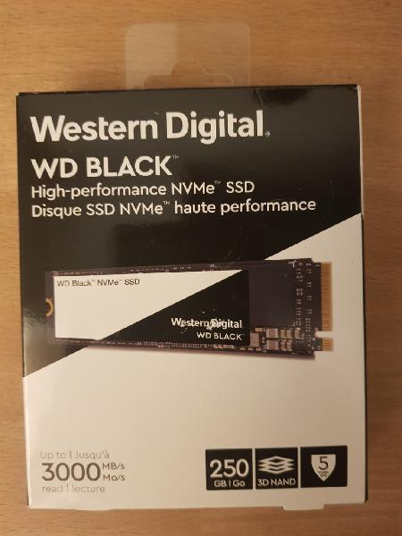 Western digital black nvme ssd 250gb