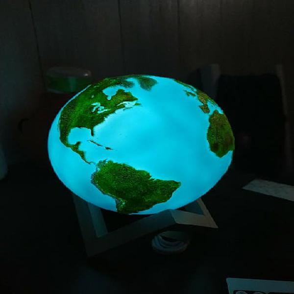 Globo terráqueo lámpara nuevo