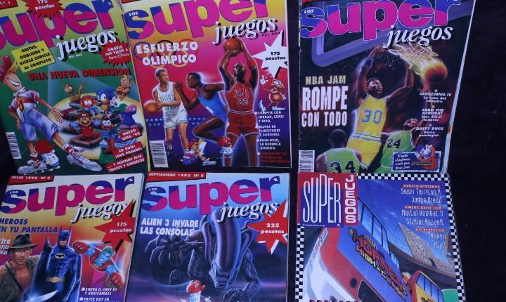 lote 7 revistas super juegos videojuegos años 90 vintage