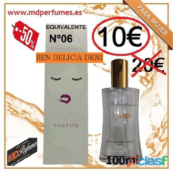 Perfume equivalente mujer nº06 ben delicia dkni alta gama 10€ 100ml