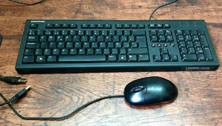 3 teclado y ratón compac hp inalambricos y mecánic