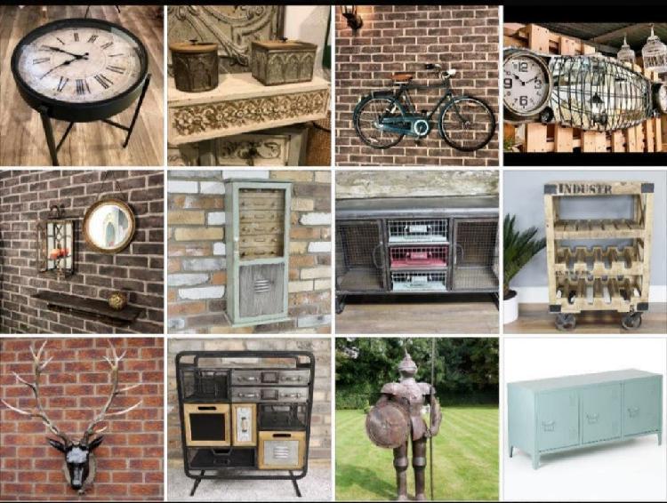 Decoración industrial retro vintage