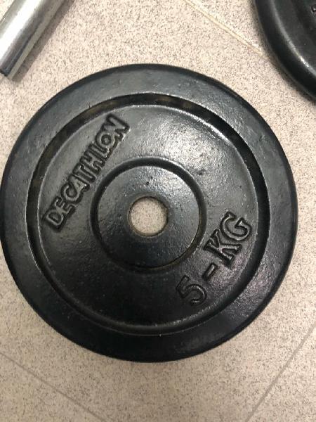 Discos 5 kg pesas mancuernas