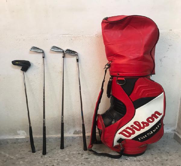 Lote deportivo para jugar golf: bolsa wilson, 4 palos de