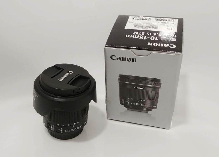 Objetivo canon ef s 10-18mm