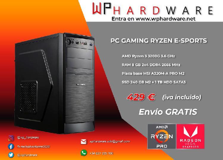 Pc gaming ryzen e-sport (producto nuevo)