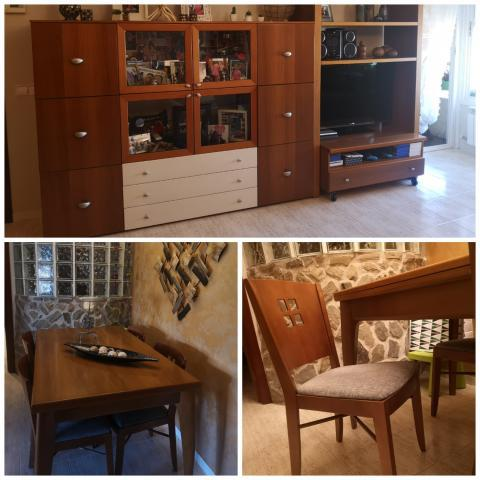 Salón completo mueble+mesa+sillas