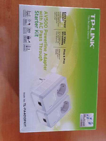 Tp-link av500 uso red eléctrica para ethernet