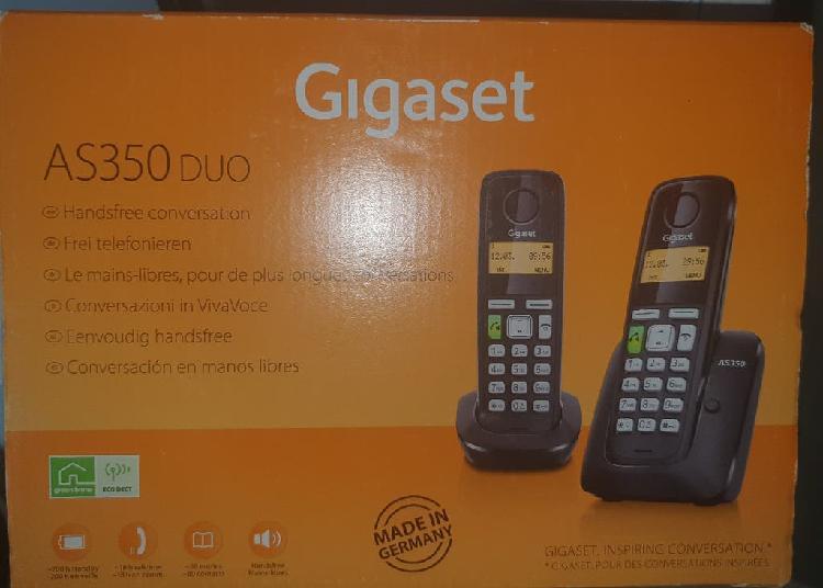 Teléfono - gigaset as350 duo, 2 terminales, manos