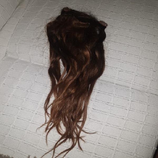 Extensiones pelo natural castaño oscuro