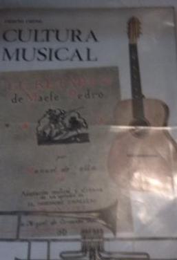 Cultura musical cuarto curso primaria.