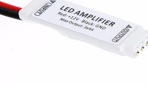Mini amplificador tira led rgb