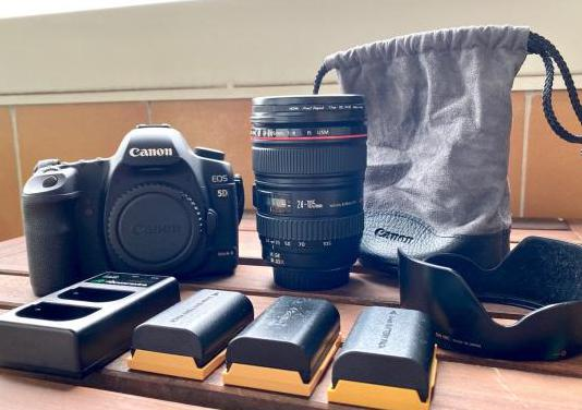 Canon 5d mkii objetivo 25-105mm 1:1.4 l