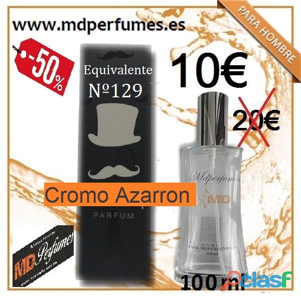 Perfume equivalente hombre nº129 cromo azarron alta gama 10€ 100ml