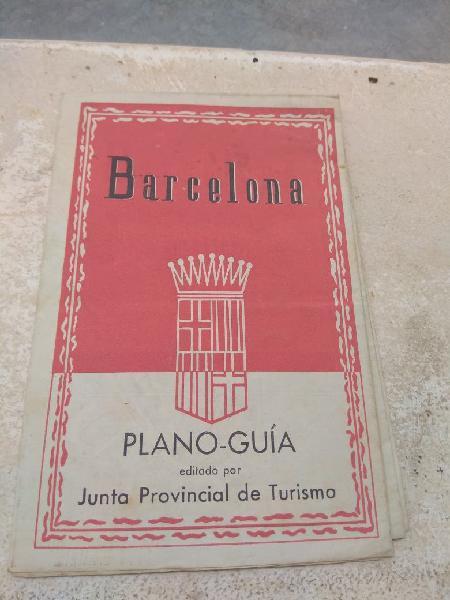 Antiguo plano guía barcelona