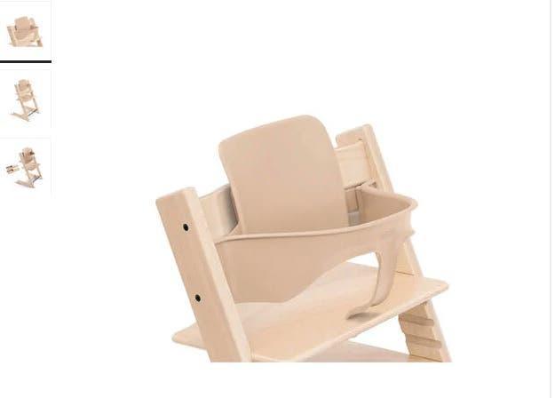 Baby set silla stokke con cojín casi nuevo