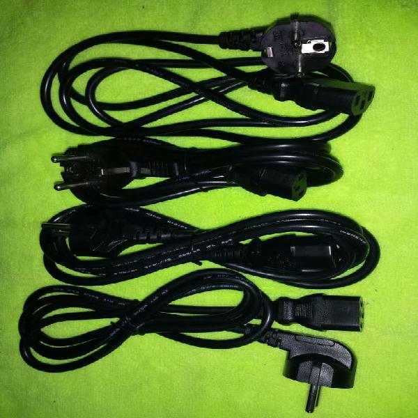 Cable alimentación cpu pc ordenador fuente red luz