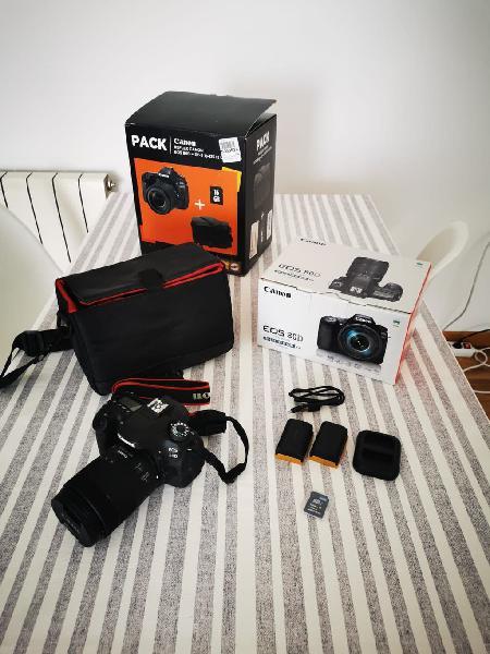 Cannon eos 80d. cámara de fotos y video.