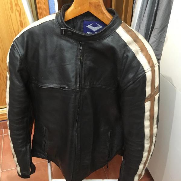 Cazadora moto de cuero ( marrón)
