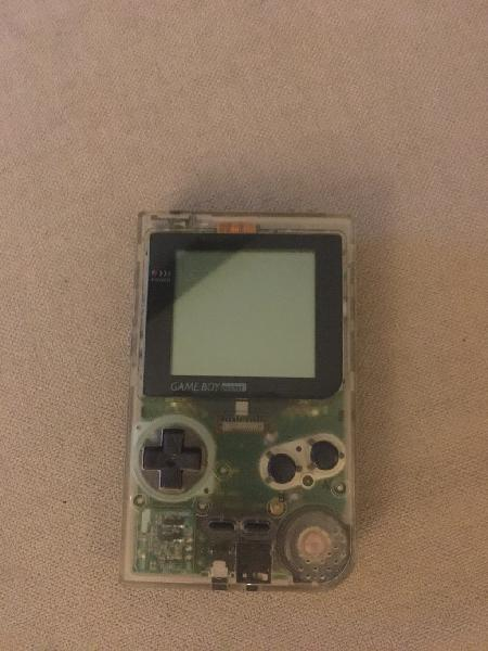 Consola game boy pocket transparente