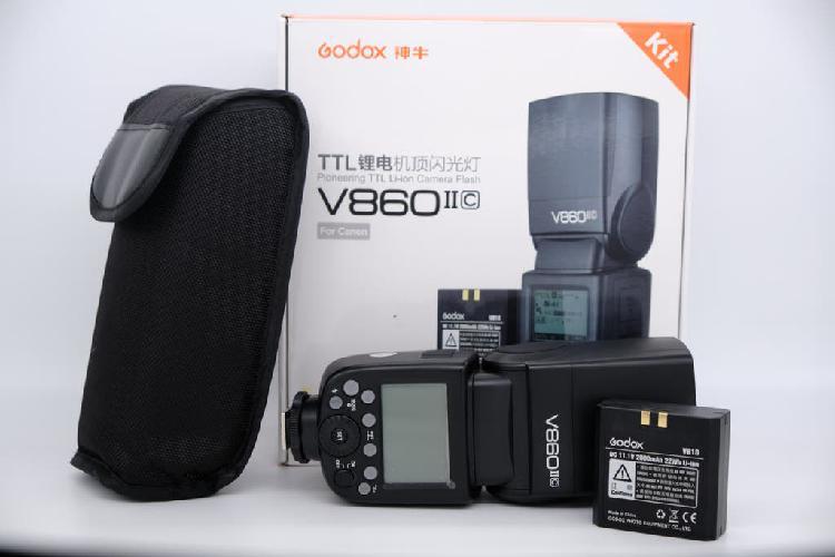 Flash godox v860 ii para canon / bateria de litio
