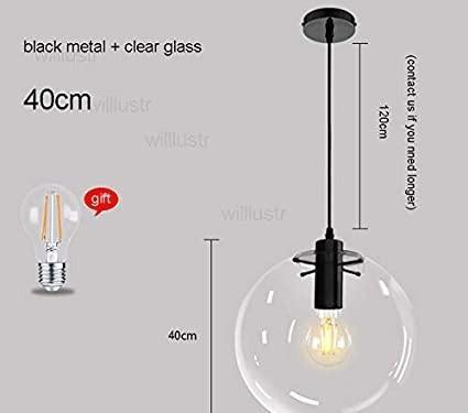Gran lámpara globo de techo