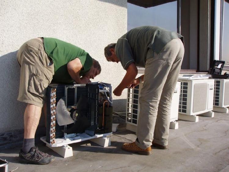 Instalacion aire acondicionado.
