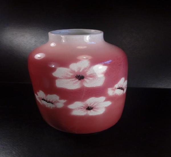Jordi serra moragas. jarrón en cerámica de esmaltes.