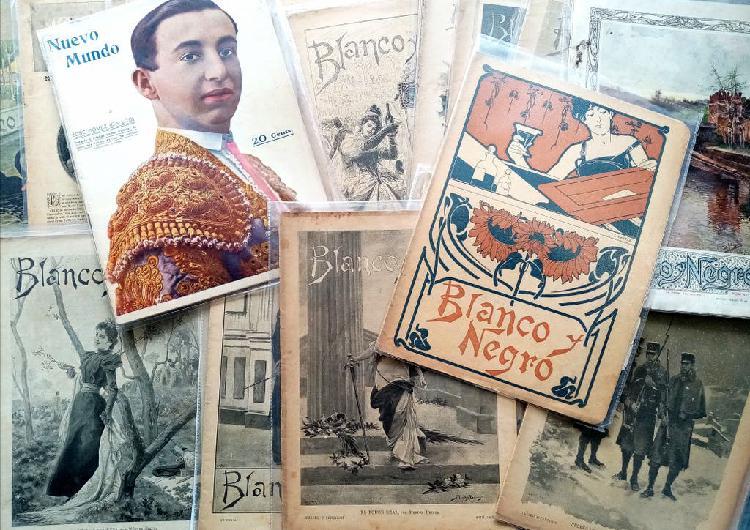 Lote revistas blanco y negro año 1800