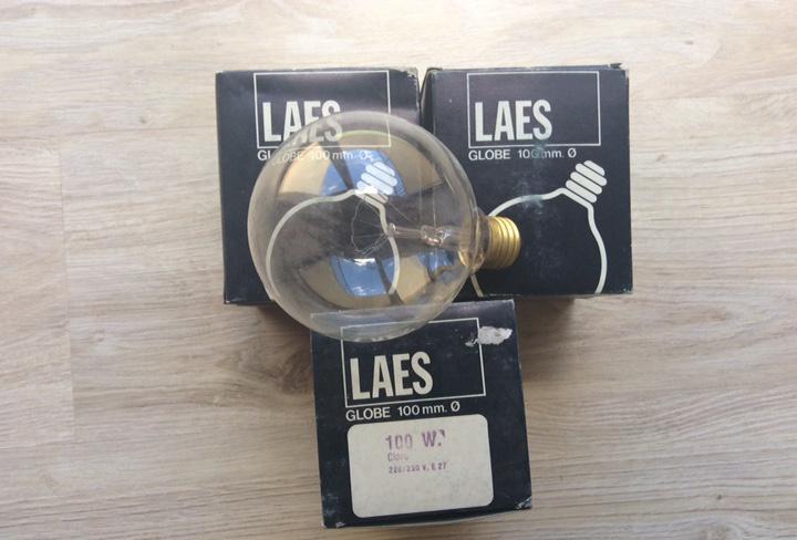 Lote de 3 bombillas laes globe 100 mm