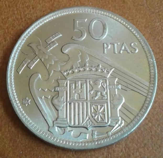 Moneda 50 pesetas 1957*58