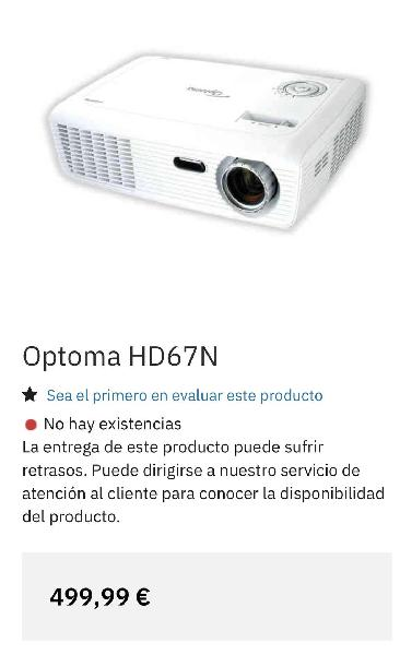 Proyector optoma hd67n + 3dxl + tdt + cables